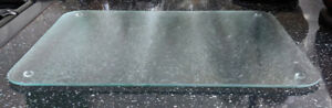 Tuftop Glass Chopping Cutting Board Clear Frosted Glass Kitchen Worktop Saver