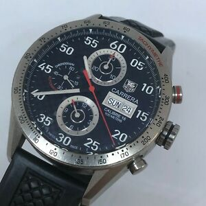 TAG HEUER CARRERA LIMITED TITANIUM AUTOMATIC CHRONOGRAPH BOX & CARD REF CV2A80