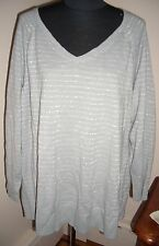 NWOT AVENUE WOMAN'S V-NECK SWEATER TOP size 22/24