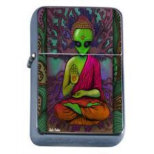 Zen Alien Em5 Flip Top Oil Lighter Wind Resistant With Case