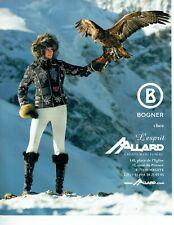 Publicité Advertising 089  2010  vetements ski ALLARD Megève B Bogner fuseau ano