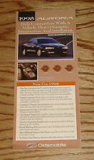 Original 1998 Oldsmobile Aurora Foldout Sales Brochure 98