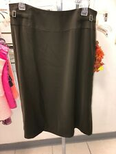 PERTE BY KRIZIA Women's Brown ALine Skirt Size 21