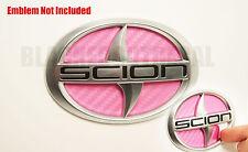 (04-2010) Scion TC PINK Carbon Fiber Rear Trunk Inlay Emblem Decal vinyl smoked