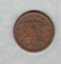 More details for usa 1855 large one cent in good fine or better condition