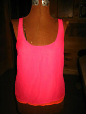 WOMEN'S/JUNIORS PINK AND ORANGE TOP BLOUSE~ BY WET SEAL~SIZE SMALL~