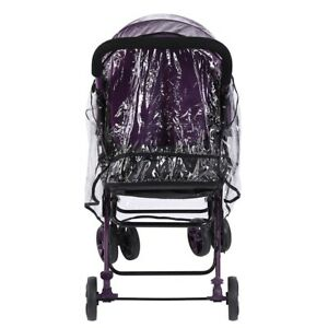 Windproof Baby Buggy Stroller Rain Cover Transparent Pushchair Protection Rain