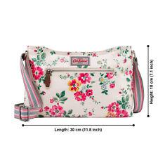 CATH KIDSTON Zipped Crossbody Bag Matt Oilcloth Cream THORP FLOWERS Cream NEW