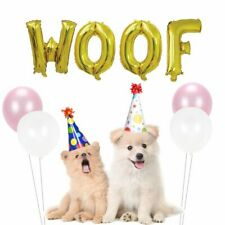 Dog WOOF Birthday Balloons  Letter Products Party Supplies Animal Safari Decors