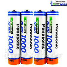 4 x Panasonic AAA batteries Ni-MH 1000 930 mAh Rechargeable High capacity HR03