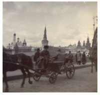 Russie, Moscou, Vue de la ville au long du rivière Moscou  vintage citrate print