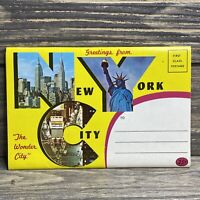 Vintage Souvenir Postcard Album Folder New York City 1963