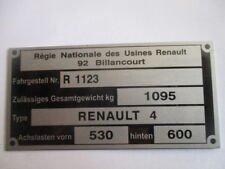 plaque constructeur renault en vente ebay. Black Bedroom Furniture Sets. Home Design Ideas