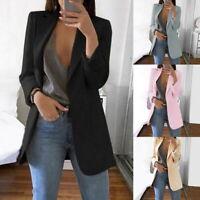 Femmes Revers Blazer Manteaux  Formelle Bureau Costume Cardigan Casual Mode