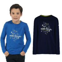 Regatta Wilder Kids Long Sleeved Lightweight Cotton T-Shirt