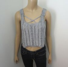 NWT Hollister Womens Cropped Sweater Tank Top Size XS Gray