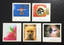 Canada #2389i-2393i Die Cut MNH, Wildlife Photography Set of Stamps 2010