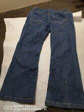 Ladies  Cotton Jeans UK size14  97tallx40cm west