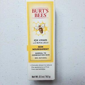 Burts Bees Eye Cream with Royal Jelly 0.5 oz Skin Nourishment 99% Natural