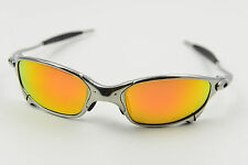 Oakley JULIET Polished/Polarized Fire Iridium Sunglasses X-Metal Serialized