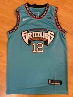 #12 Ja Morant Memphis Grizzlies MEN'S Navy/Throwback Teal Sewn Swingman Jersey