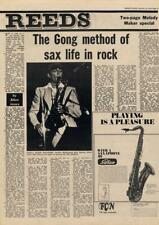 Gong Didier Malherbe method of sax life Interview/article 1976