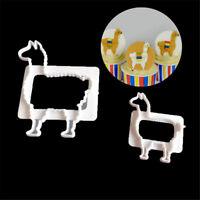 2pcs Alpaca plastic fondant cookie cutter fondant mold cake decorating tools RS