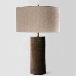 Vintage PALECEK cylinder wood lamp