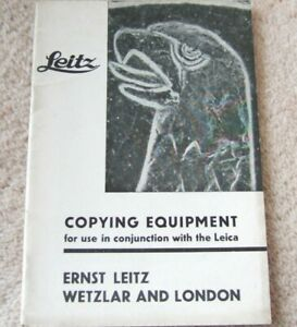 COPYING EQUIPMENT FOR Leica Cameras BROCHURE 1937 E.Leitz Wetzlar & LONDON 44pp