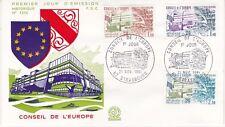 Enveloppe 1er jour FDC n°1242- 1981 - Conseil de l'Europe Strasbourg