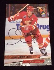 GARY ROBERTS 1993-94 FLEER ULTRA Autographed Signed AUTO HOCKEY Card 187 FLAMES