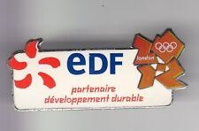 RARE PINS PIN'S .. ENTREPRISE EDF GDF PARTENAIRE OLYMPIQUE OLYMPIC  LONDON ~C5