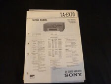 ORIGINALI service manual Sony ta-ex70