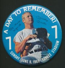 "Mickey Mantle 1969 A Day to Remember 4"" Pin *2052"