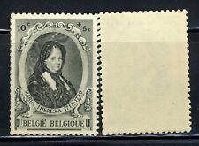 1941 Belgian Maria Theresia♕10c+5c Stamp Sc573 Mnh Og