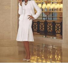 Women's Mother Of Bride Groom Wedding Fall Winter White Jacket Dress plus 16W 1X