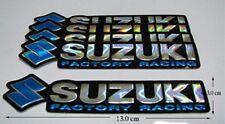 5x New SUZUKI FACTORY RACING  Foil  Motocross   Decals Sticker Blue