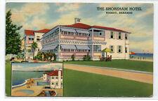 Shoreham Hotel Nassau Bahamas 1942 linen postcard