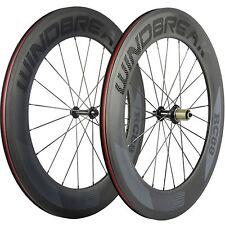 WINDBREAK Road Bike Wheels Clincher R13 88mm Bicycle Carbon Wheelset 3k Matte