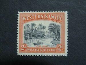 Samoa 1935 River Scene 2d Red & Black - Mint Hinged - High CV