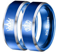 HIS QUEEN HER KING Couple Crown Rings Titanium Steel Ring Personality Jewelry