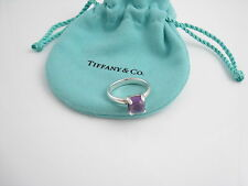 Tiffany & Co Silver Picasso Amethyst Sugar Stack Ring Size 6!