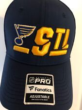 Fanatics Branded St. Louis Blues Navy/Gold Authentic Pro Rinkside Alpha. RARE!!
