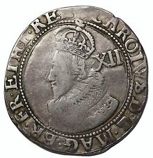 England Charles I 1625-1627 AR Silver Shilling Stuart Tower Mint S.2782