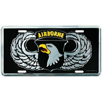 US ARMY 101ST AIRBORNE DIVISION METAL LICENSE PLATE - MADE IN THE USA!
