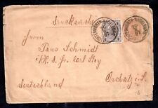 More details for austria 1897 uprated postal stationery cover to germany ws11896