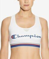 Champion Women's Authentic Logo Cutout Racerback Medium-Support Sports Bra SZ S