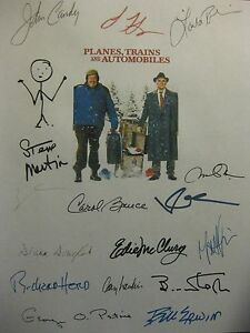 Planes Trains and Automobiles Signed Film Script X16 John Candy Steve Martin rpt
