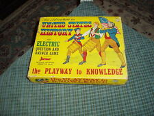 Vintage 40's JACMAR UNITED STATES HISTORY Electric Board Game Collector !