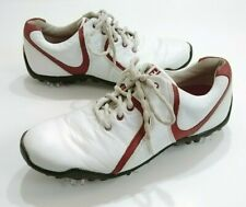 Footjoy Lowpro Womens 6.5 Golf Shoes White and Burgundy New Softspikes
